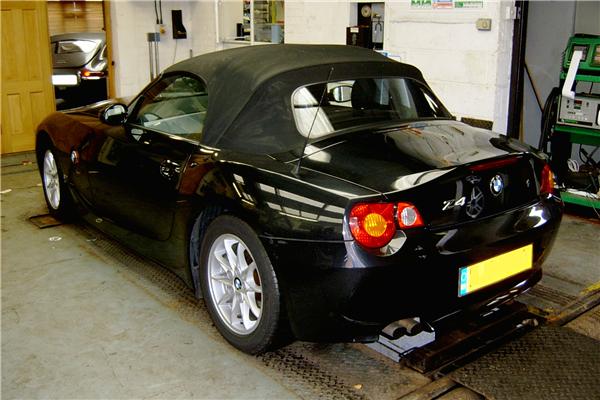 BMW Z4 in the workshop