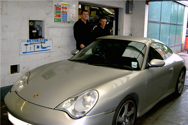 Porche in workshop