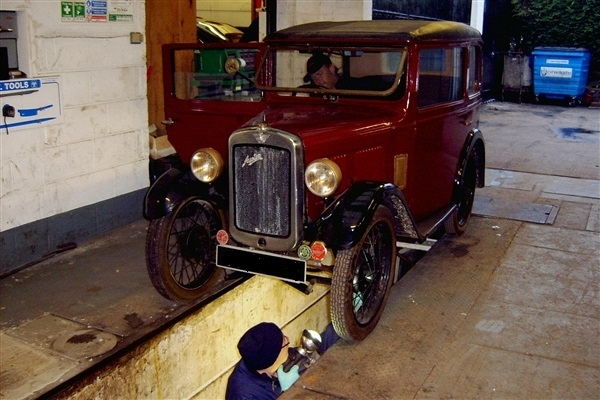 working on the Austin 7